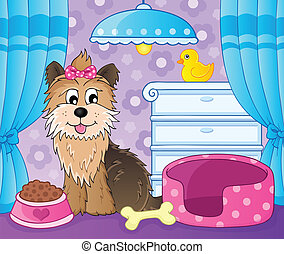 Image with dog topic 7 - eps10 vector illustration