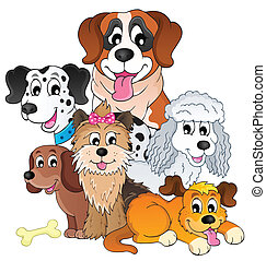 Image with dog topic 8 - eps10 vector illustration.