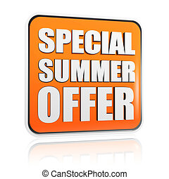special summer offer orange banner - special summer offer...
