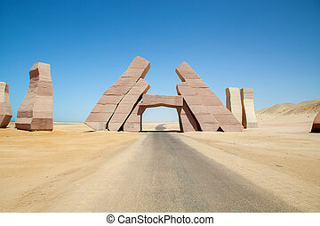 reserve of Ras Mohamed - The gate of the reserve of Ras...
