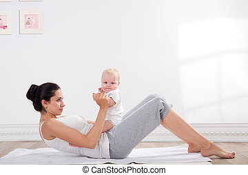 mother and baby gymnastics