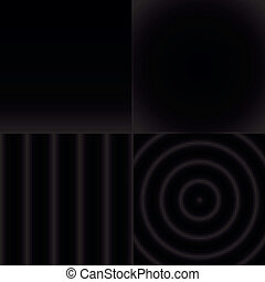 Seamless black and white abstract pattern set - Seamless...