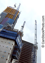 Construction of an office building - Construction of a tall...