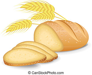 Bread Threaded vector
