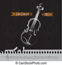 live concert over black background vector illustration