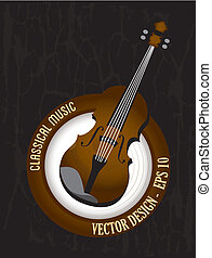 classical music over black background vector illustration