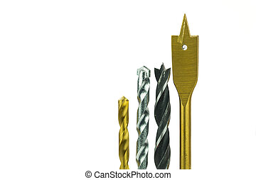 Various Type Of Drill Bits - Various type of drill bits over...