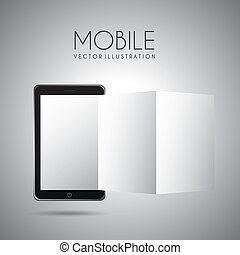 mobile design over gray background vector illustration