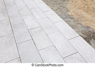 Unfinished outdoor paving stone