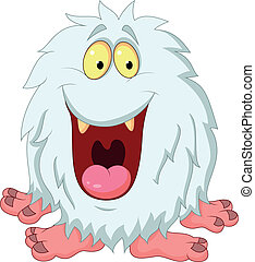 Smiling yeti cartoon - Vector illustration of Smiling yeti...