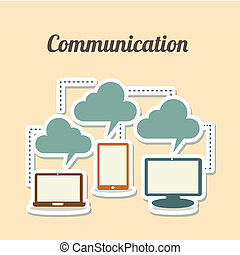 technological icons over white background vector...