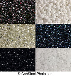 Black and white beads - Three options of black and three...
