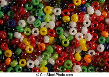 Multi-colored bright beads - Very bright, brilliant,...