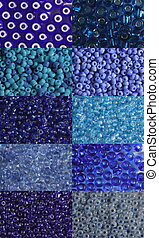 Set of blue beads - Ten options of a shade and size blue...