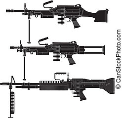 Machine Gun - Layered vector illustration of Machine Gun