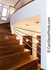 Grand design - Stairs - Grand design - Closeup of wooden...