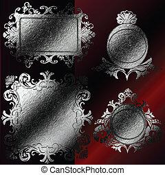 vector silver frames set