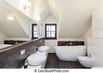 magnífico, diseño, -, cuarto de baño