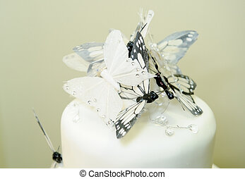 Wedding cake with butterfly detail