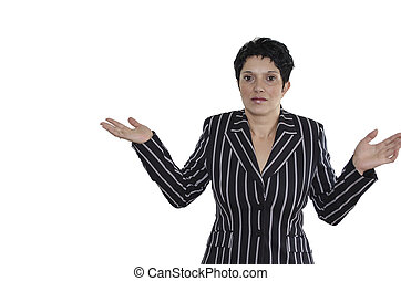 I Do Not Know - Stock photo of a woman gesticulating that...