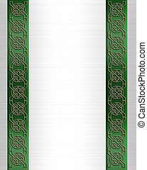 St Patricks Day Celtic Knot Border - Celtic Knot border or...