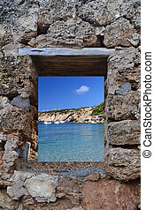 View of Cala Vadella in Ibiza - View of Ibiza Cala Vadella...