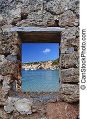 View of Cala Vadella in Ibiza - View of Ibiza Cala Vadella...