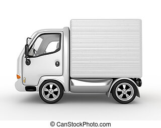 3D White Van isolated