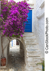 Naxos island in Greece - The medieval town of Naxos island...