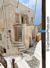Syros island in Greece - The old town of Syros island in...