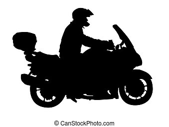 Sport motocyclists - Vector image of motocyclists Silhouette...