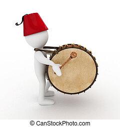 3D man ramadan drummer