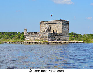 Fort Matanzas near St. Augustine, Florida was contructed...