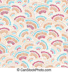 Textured geometric doodle seamless pattern background -...