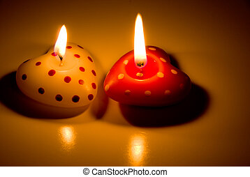 Heart Shaped Candles - A Heart Shaped Candle decorations for...