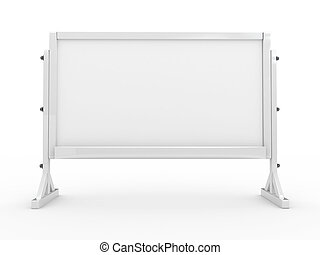 High Res. 3d white board isolated