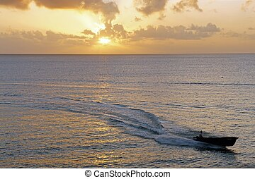fisherboat in the sunset