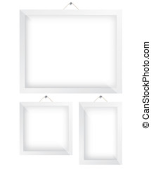Frame white illustration