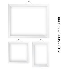 Frame white illustration