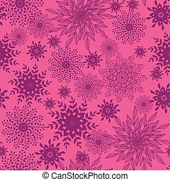 Abstract floral shapes seamless pattern background
