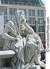 monumento,  Berlín, filosofía,  schiller, Alegoría