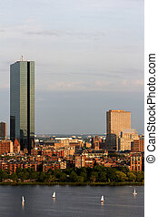 Boston John Hancock Tower Skyline - Part of the Boston Back...