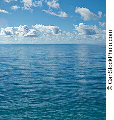 the peaceful calm ocean - image looking out from the the far...