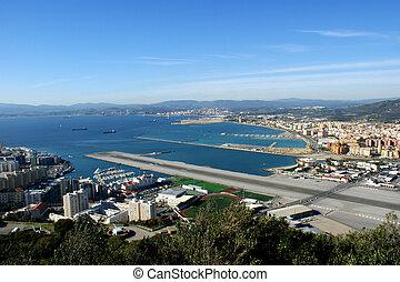 Gibraltar runway - View onto end of runway of Gibraltar