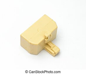 Splitter plug from back with white background