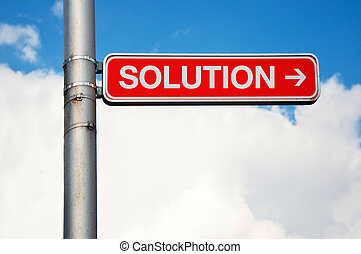 Street sign - Solution - Solution - street sign Road sign...