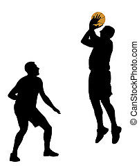 Basketball - Illustration of two basketball players Isolated...