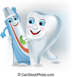 Dance of the tooth and toothpaste