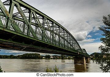 Danube river - River Danube Donau in Wachau,Austria with...