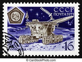Franqueo, estampilla,  1971,  1,  lunokhod, Operación, Rusia